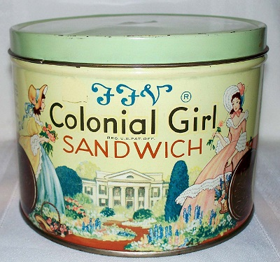 Colonial Girl Cookies, a product of SBC
