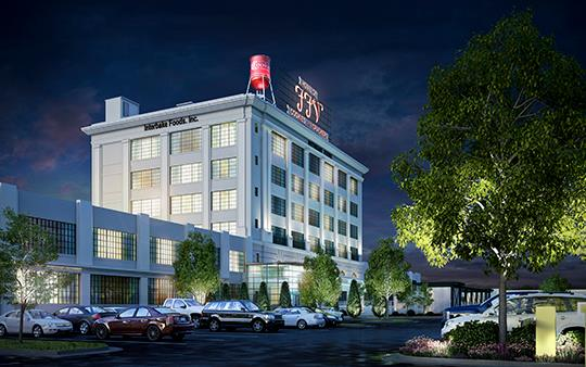 Architectural rendering of the Cookie Factory Lofts